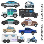 police car vector policy... | Shutterstock .eps vector #1162158151