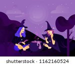 halloween holiday greeting card.... | Shutterstock .eps vector #1162160524