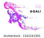 football concept. vector drawn... | Shutterstock .eps vector #1162161301