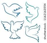 illustration silhouette of... | Shutterstock . vector #1162163554