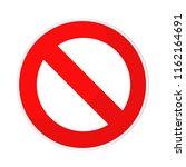 prohibited sign flat design on... | Shutterstock . vector #1162164691