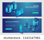 mining cryptocurrency and... | Shutterstock .eps vector #1162167481