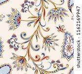 seamless pattern in ethnic... | Shutterstock .eps vector #1162169947