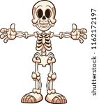 cartoon skeleton with separate... | Shutterstock .eps vector #1162172197