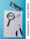 idea word on white paper with... | Shutterstock . vector #1162173424