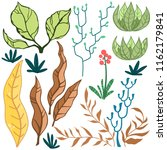 vector set of bright stylized... | Shutterstock .eps vector #1162179841