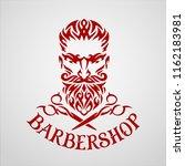 barbershop. tribal vector logo. ... | Shutterstock .eps vector #1162183981