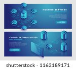 cloud technology and hosting... | Shutterstock .eps vector #1162189171