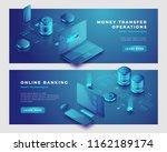 money transfer operation and... | Shutterstock .eps vector #1162189174