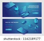 social network and information... | Shutterstock .eps vector #1162189177