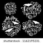 set of handlettering phrases... | Shutterstock .eps vector #1162195231