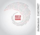 Swirl Calendar 2013
