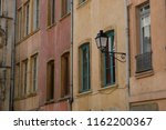 streetlamp on a traditional... | Shutterstock . vector #1162200367