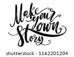 hand drawn vector lettering.... | Shutterstock .eps vector #1162201204