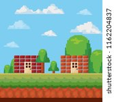pixelated and videogame design... | Shutterstock .eps vector #1162204837