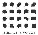 speech bubble silhouette icon... | Shutterstock .eps vector #1162219594