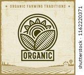 vintage organic label. editable ... | Shutterstock .eps vector #1162220371