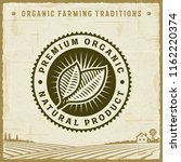 vintage premium organic natural ... | Shutterstock .eps vector #1162220374