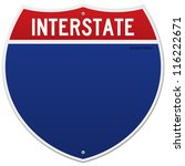 isolated interstate sign  ... | Shutterstock .eps vector #116222671
