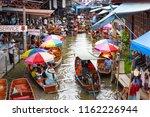 damnoen saduak floating market  ... | Shutterstock . vector #1162226944
