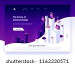modern isometric vector... | Shutterstock .eps vector #1162230571