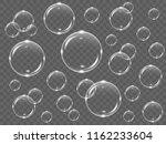realistic white transparent... | Shutterstock .eps vector #1162233604
