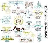 wedding vintage invitation... | Shutterstock .eps vector #116223631