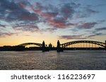 View Of Neva River And Bridge...