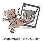 scared rat running | Shutterstock .eps vector #1162238284