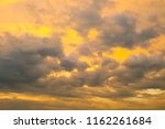 sky and clouds after sunset   | Shutterstock . vector #1162261684
