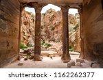 tomb ruins  rock columns and... | Shutterstock . vector #1162262377