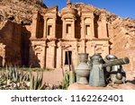 view of the monastery in the... | Shutterstock . vector #1162262401