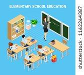 education isometric concept... | Shutterstock .eps vector #1162264387