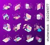 freelance programming isometric ... | Shutterstock .eps vector #1162265077