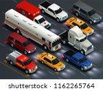 street traffic realistic... | Shutterstock .eps vector #1162265764