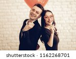 beautiful couple together on... | Shutterstock . vector #1162268701