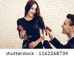 an offer of marriage. valentine'... | Shutterstock . vector #1162268734
