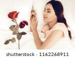 rose ring and postal. sleeping...   Shutterstock . vector #1162268911