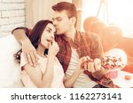 beautiful couple together on...   Shutterstock . vector #1162273141