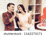 beautiful couple together on...   Shutterstock . vector #1162273171