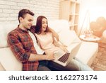 beautiful couple are watching...   Shutterstock . vector #1162273174