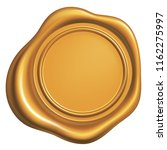 Golden Wax Seal Isolated On...