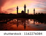 a shadow of a mosque during... | Shutterstock . vector #1162276084