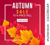 autumn illustration with paper...   Shutterstock .eps vector #1162286164