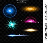 set of glowing light effect.  ...   Shutterstock .eps vector #1162288354