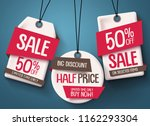 paper cut sale tags vector set. ... | Shutterstock .eps vector #1162293304