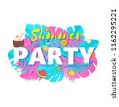 word party summer composition... | Shutterstock .eps vector #1162295221