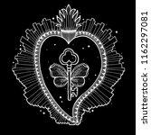 sacred holy heart jesus.... | Shutterstock .eps vector #1162297081