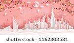 top world famous landmark with...   Shutterstock .eps vector #1162303531
