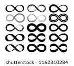 infinity vector set on white... | Shutterstock .eps vector #1162310284